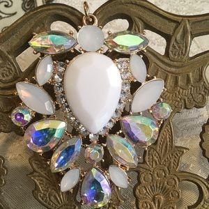 Stunning Vintage large Crystal Pendant
